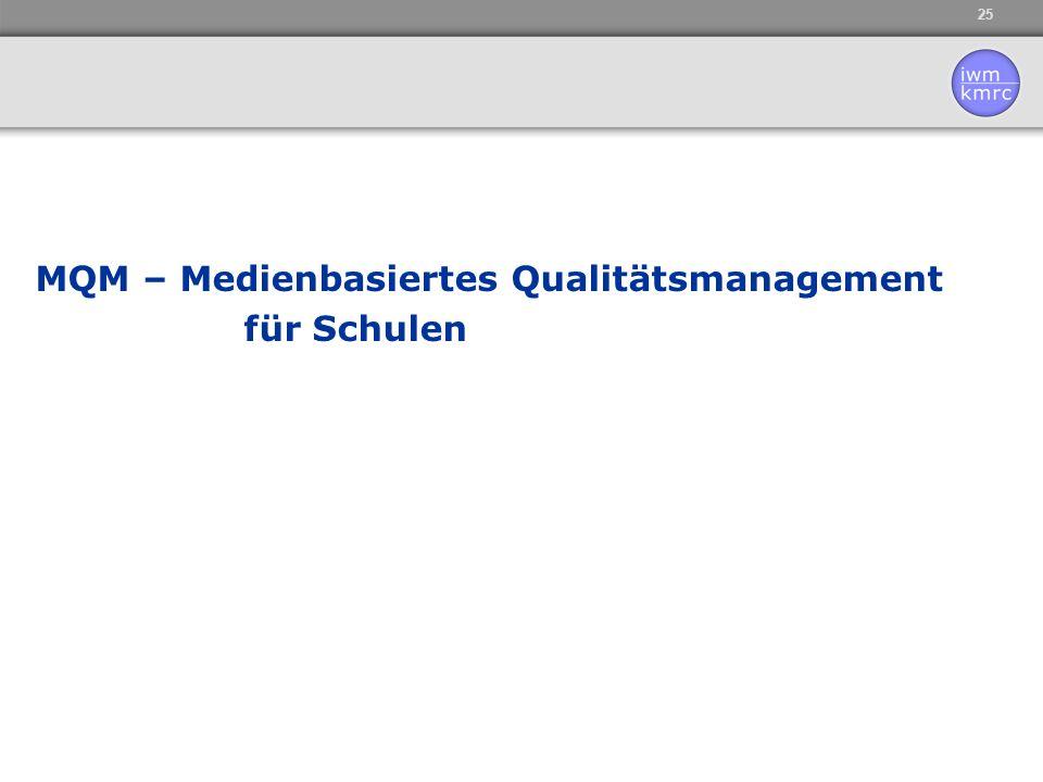MQM – Medienbasiertes Qualitätsmanagement für Schulen