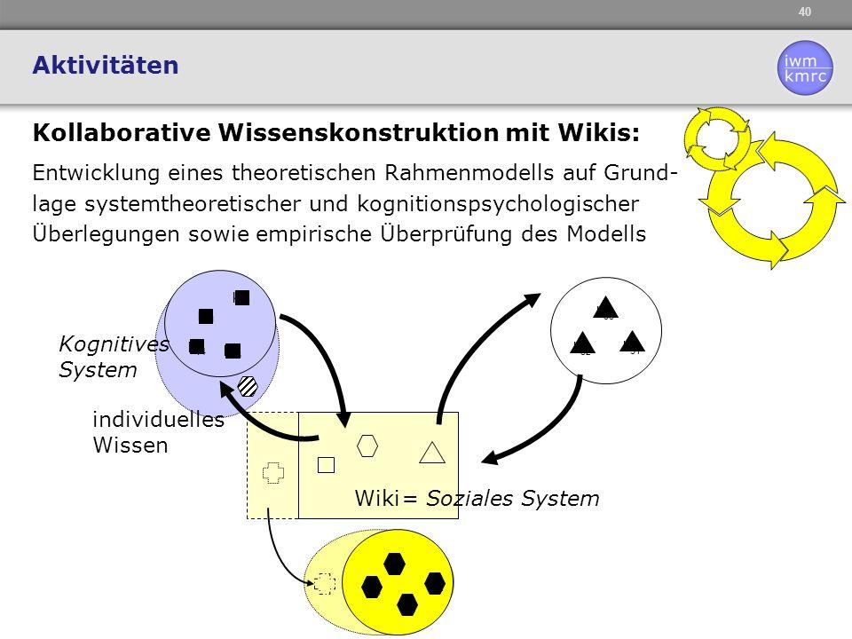 Kollaborative Wissenskonstruktion mit Wikis: