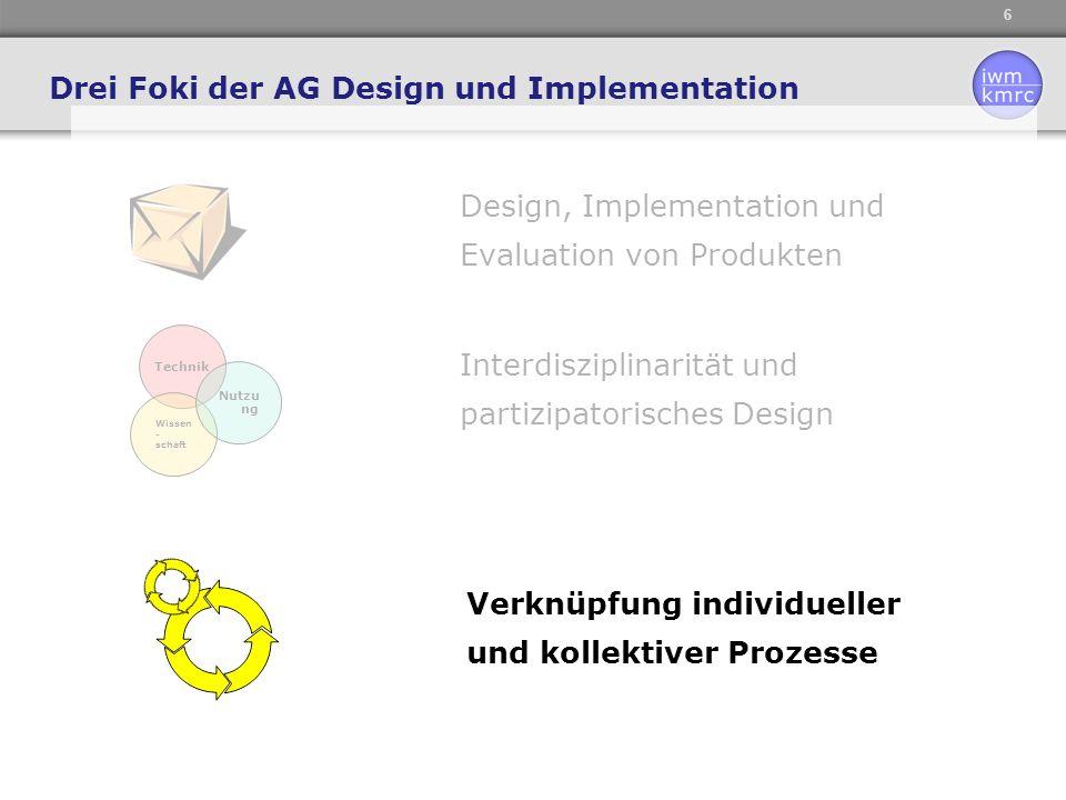 Drei Foki der AG Design und Implementation