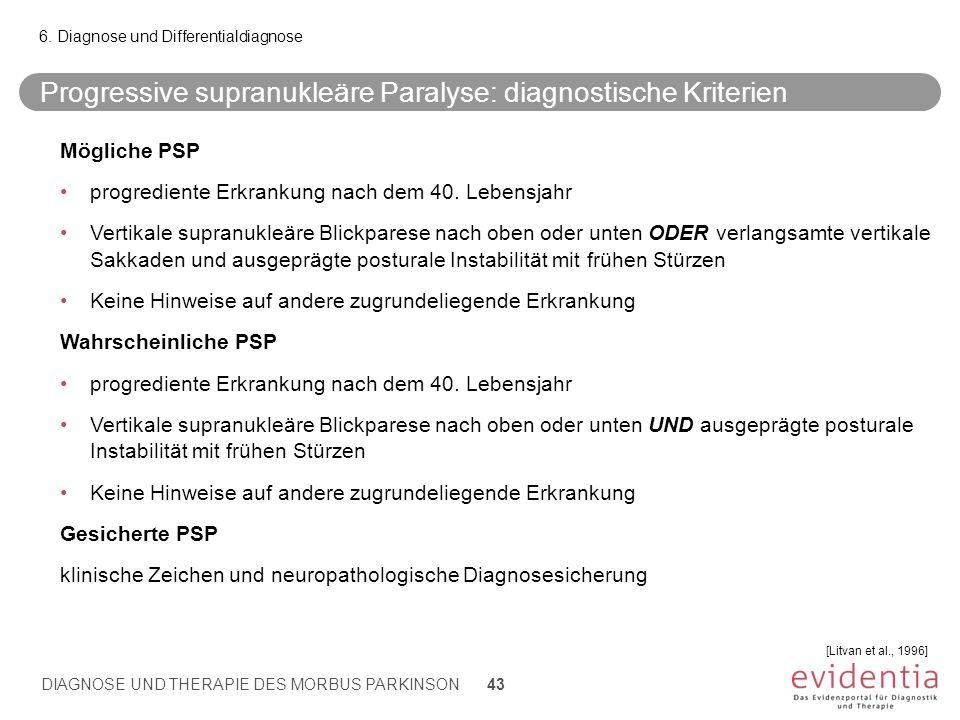 Progressive supranukleäre Paralyse: diagnostische Kriterien