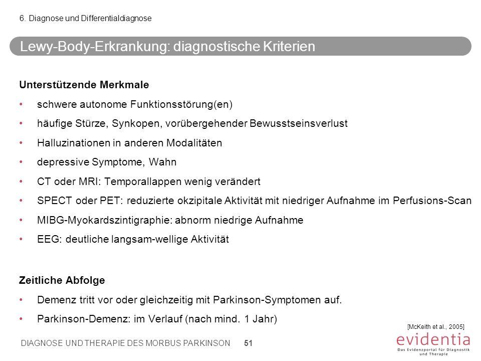 Lewy-Body-Erkrankung: diagnostische Kriterien