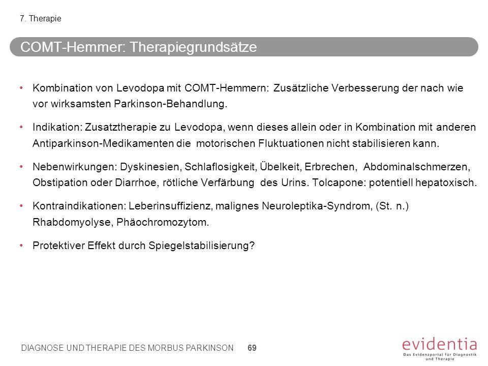 COMT-Hemmer: Therapiegrundsätze