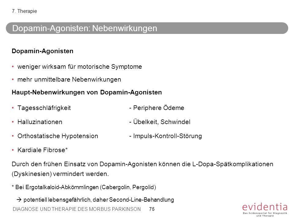 Dopamin-Agonisten: Nebenwirkungen