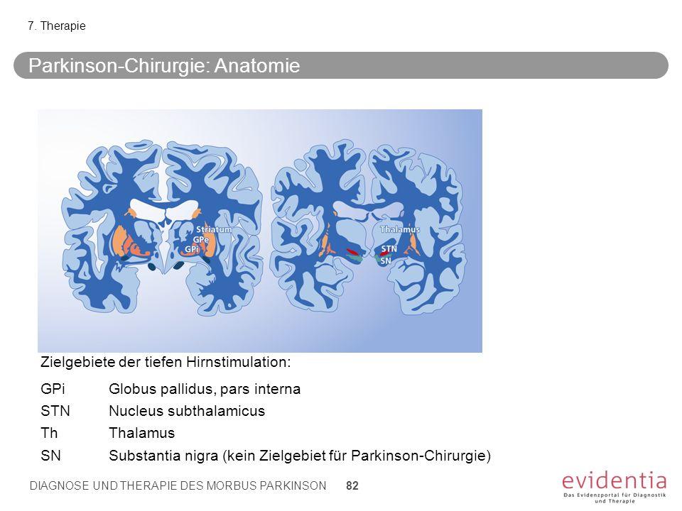 Parkinson-Chirurgie: Anatomie