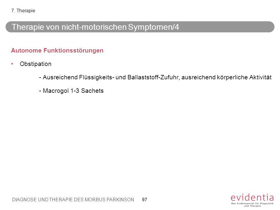Therapie von nicht-motorischen Symptomen/4