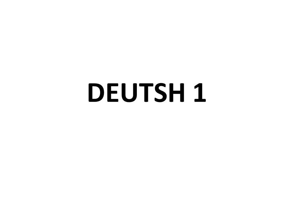 DEUTSH 1