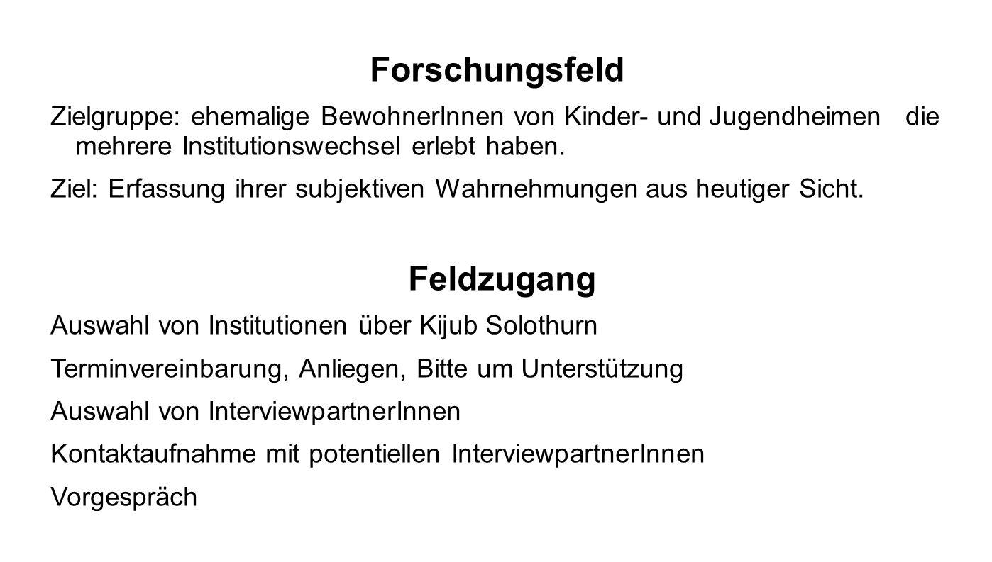 Forschungsfeld Feldzugang