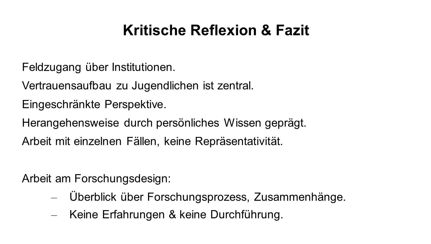 Kritische Reflexion & Fazit