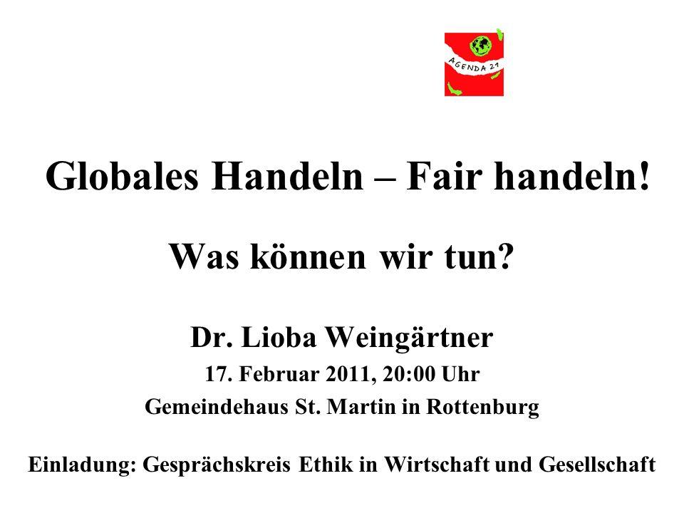 Globales Handeln – Fair handeln!