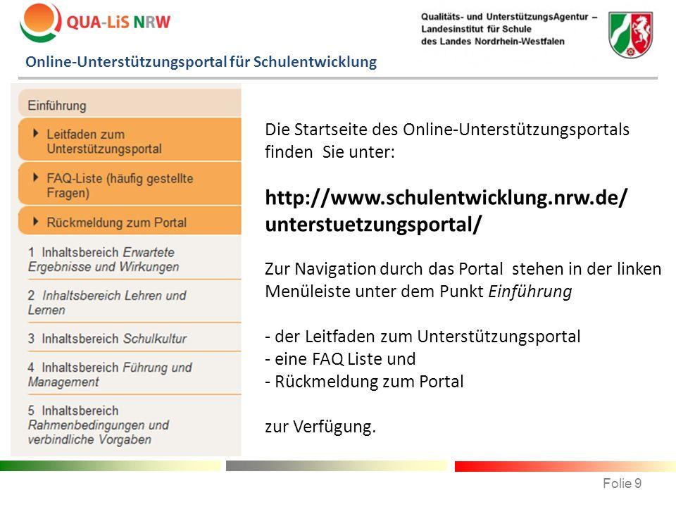 Online-Unterstützungsportal für Schulentwicklung