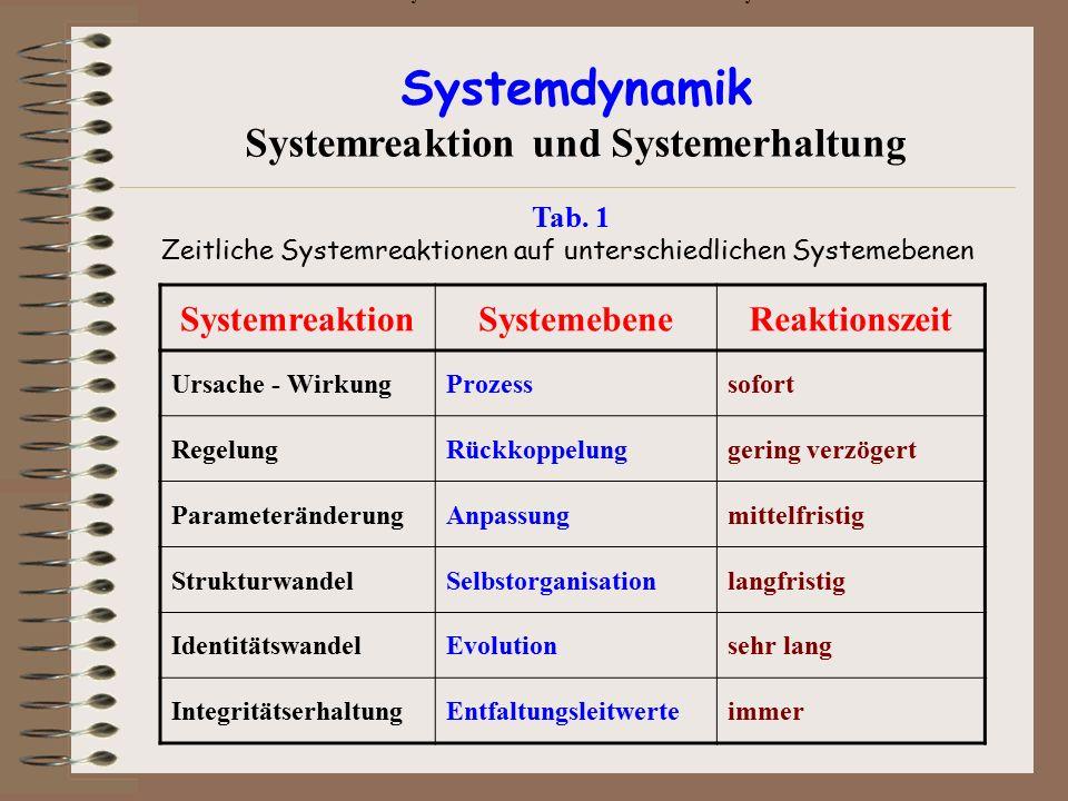 Systemreaktion und Systemerhaltung