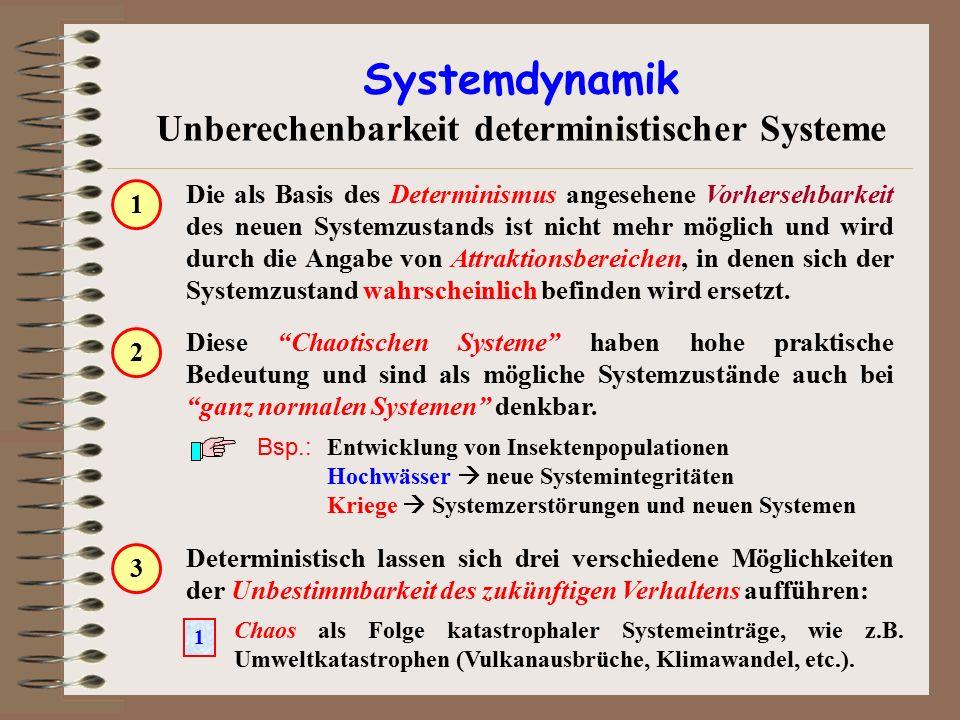 Unberechenbarkeit deterministischer Systeme