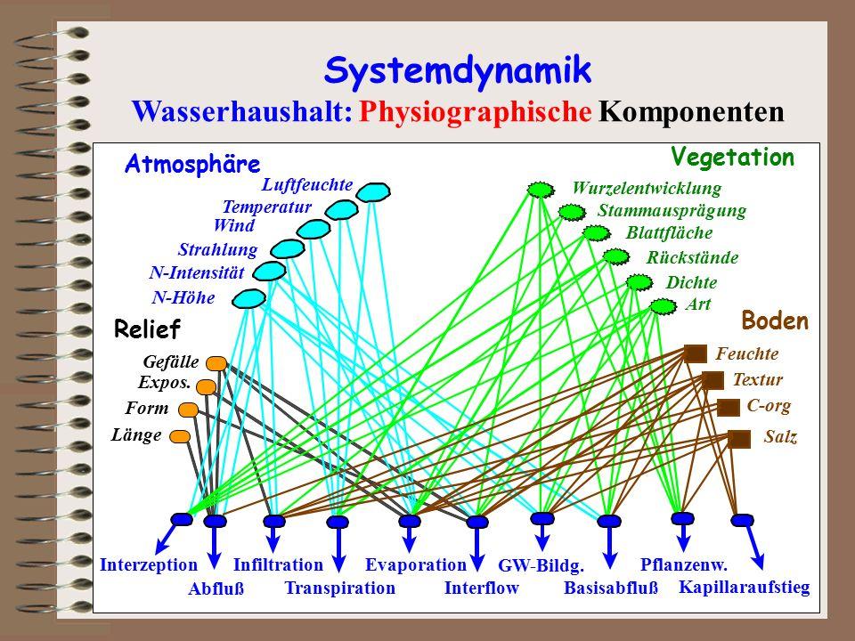 Wasserhaushalt: Physiographische Komponenten