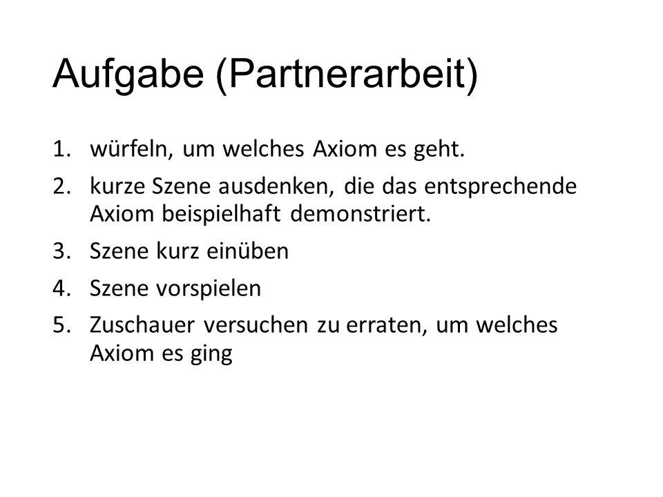 Aufgabe (Partnerarbeit)