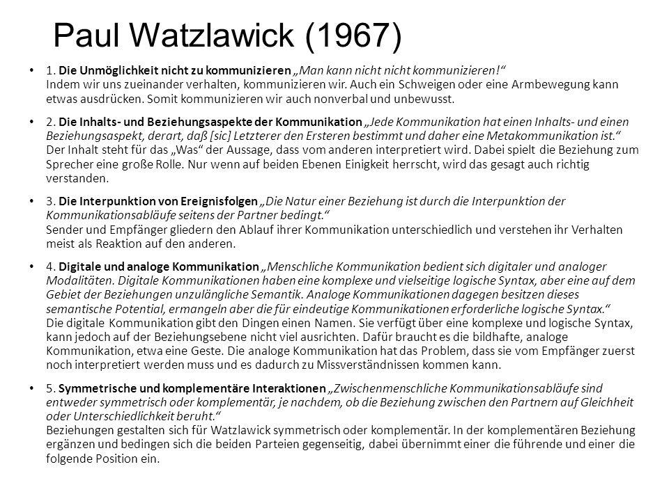 Paul Watzlawick (1967)