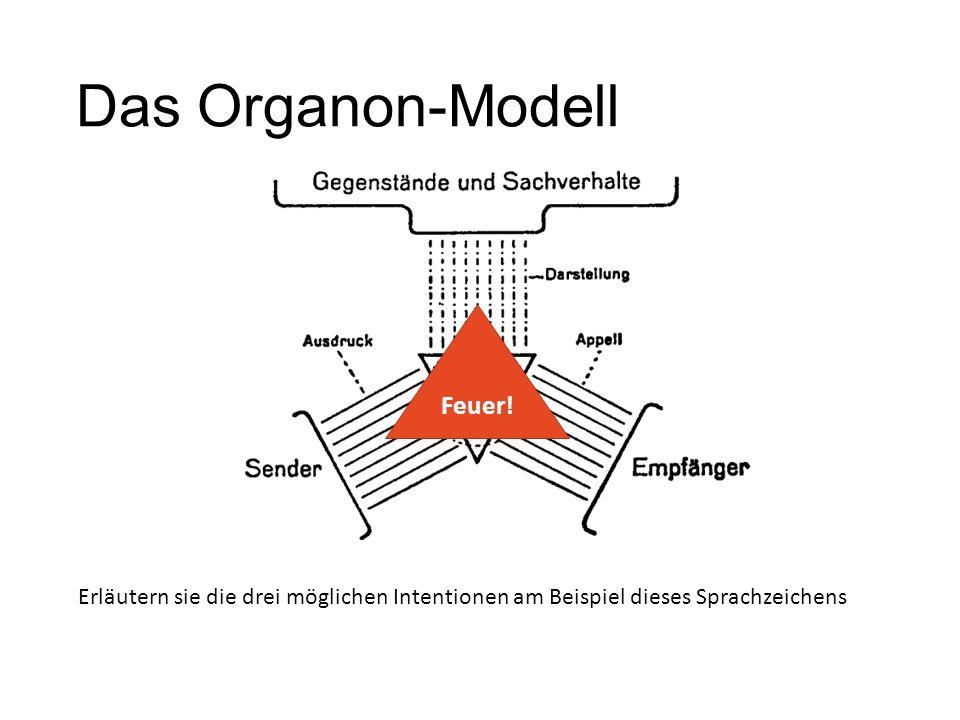 Das Organon-Modell Feuer!