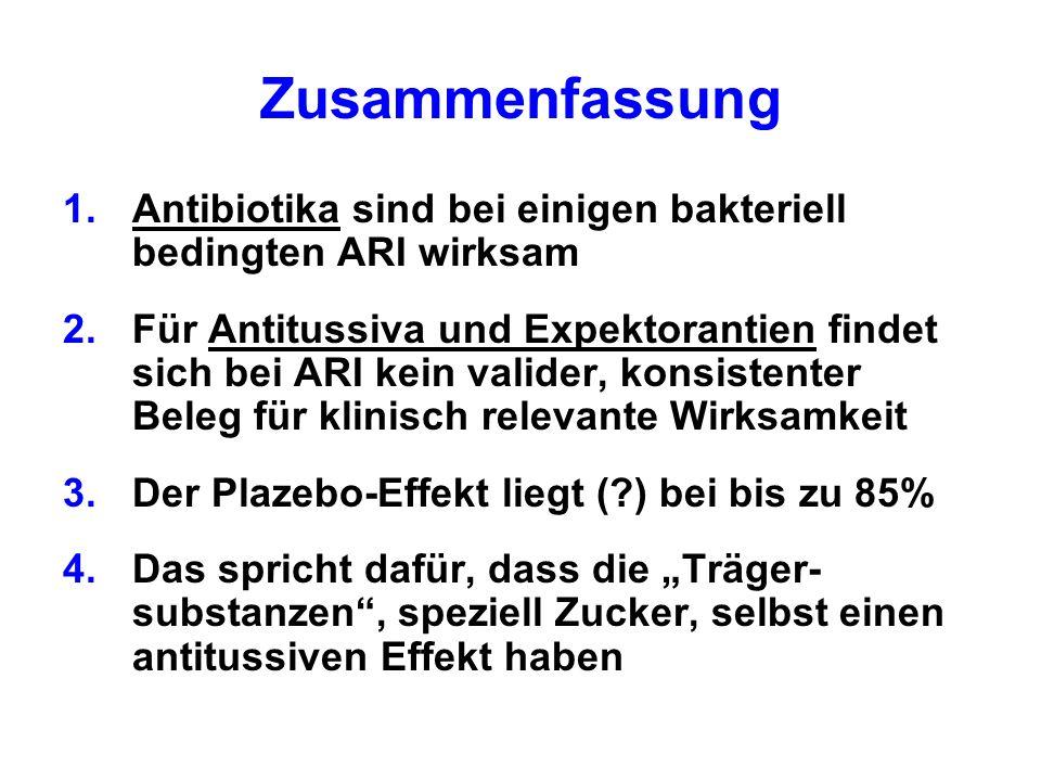 Zusammenfassung Antibiotika sind bei einigen bakteriell bedingten ARI wirksam.