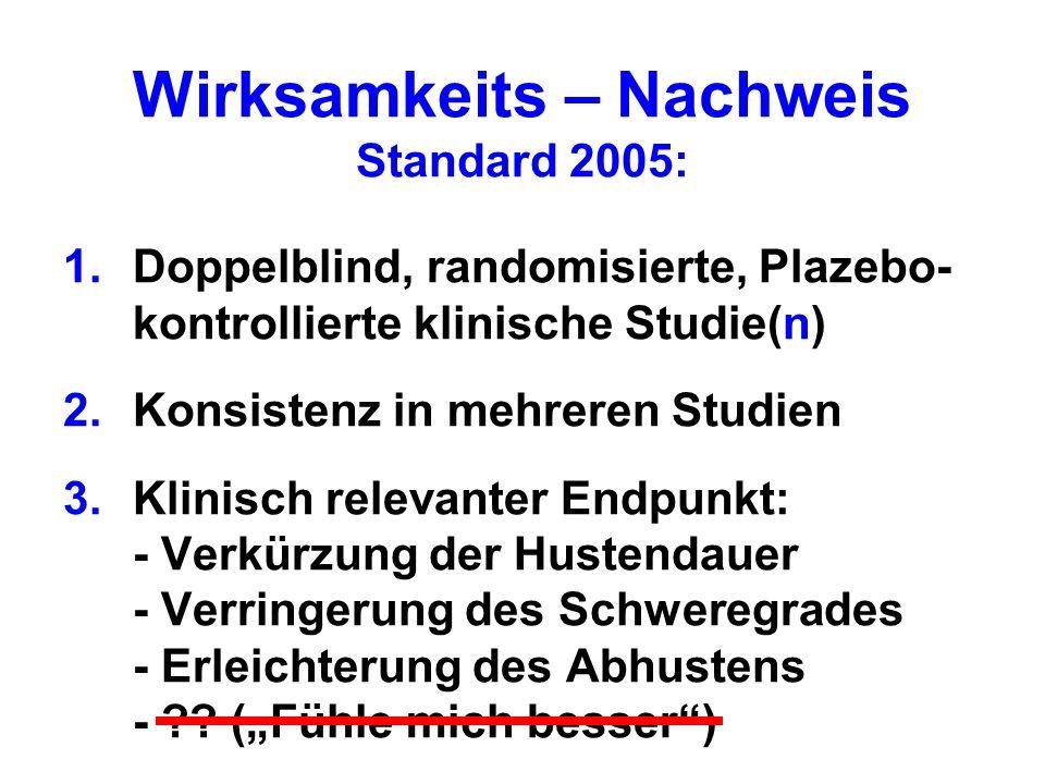 Wirksamkeits – Nachweis Standard 2005: