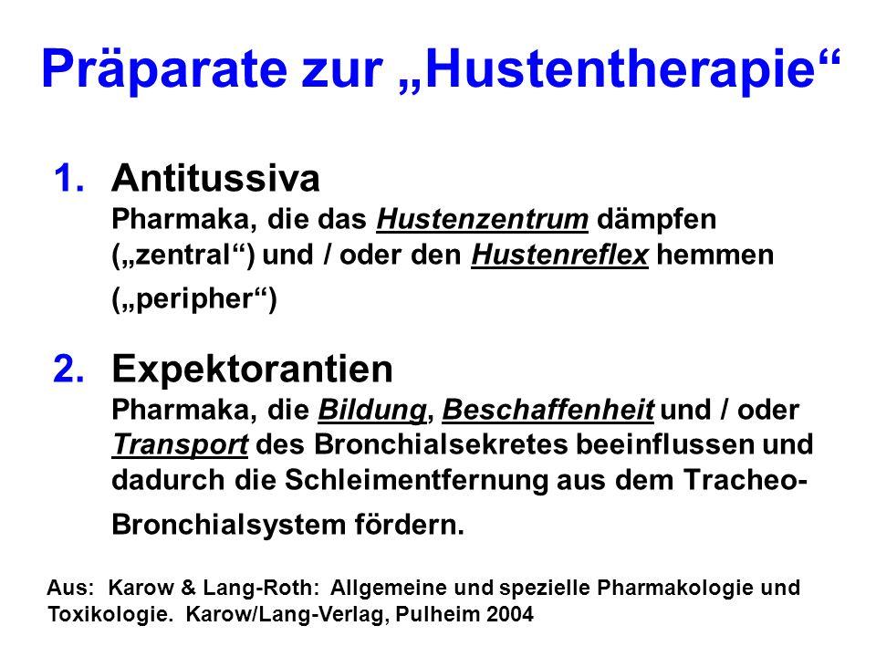 "Präparate zur ""Hustentherapie"