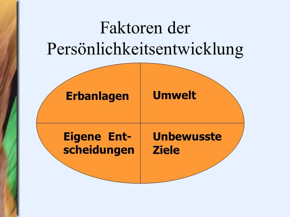 Faktoren der Persönlichkeitsentwicklung