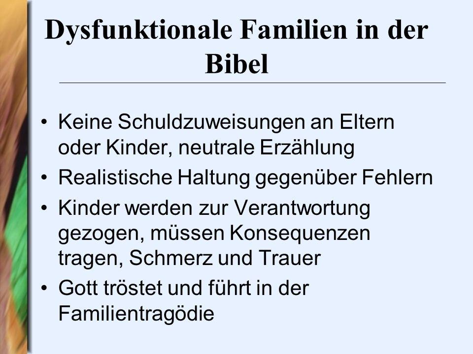 Dysfunktionale Familien in der Bibel