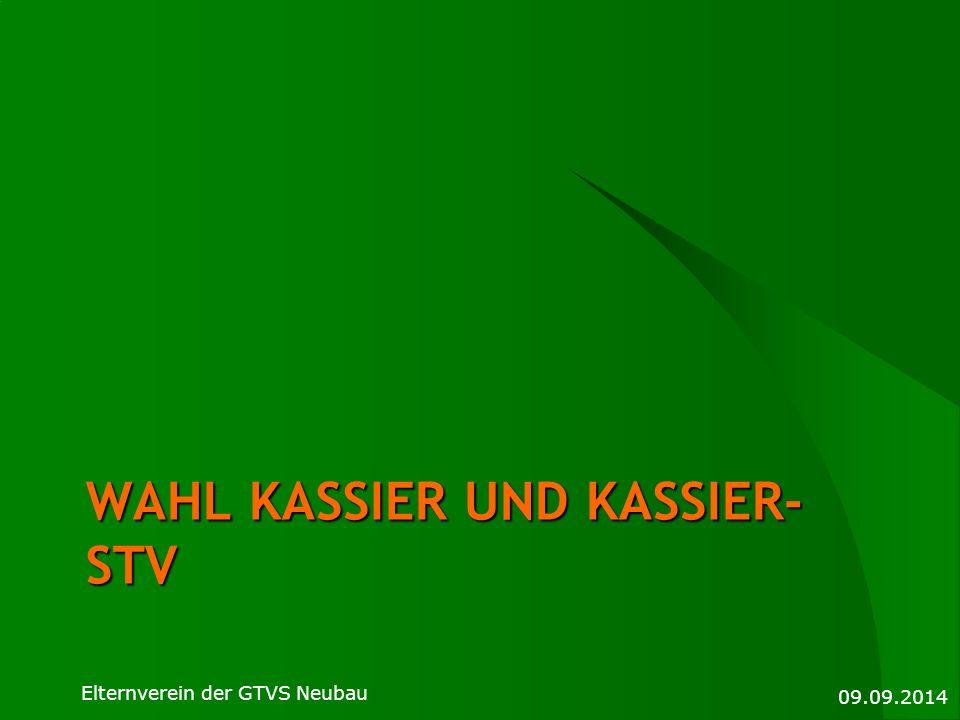 Wahl Kassier und KasSier-STV