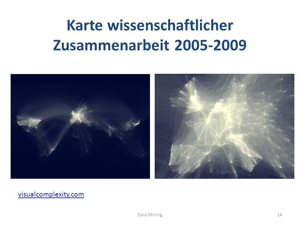 Karte wissenschaftlicher Zusammenarbeit 2005-2009