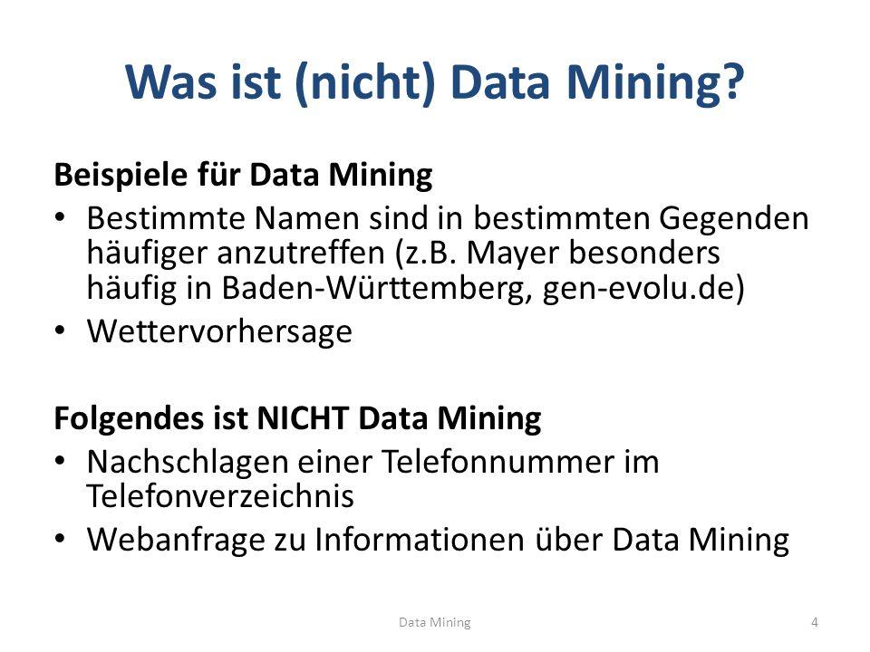 Was ist (nicht) Data Mining