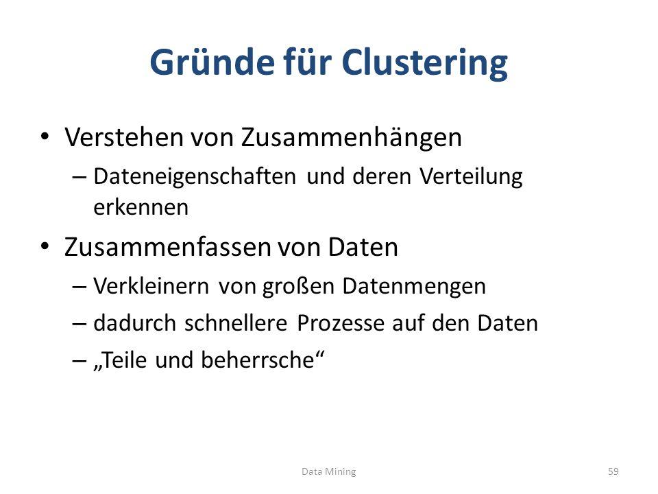 Gründe für Clustering Verstehen von Zusammenhängen