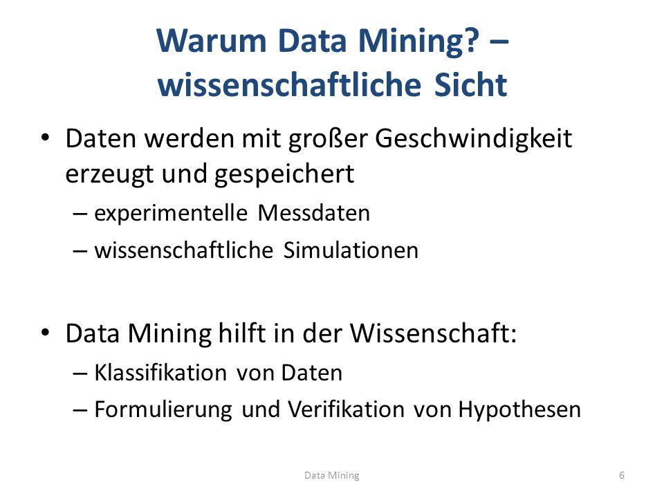 Warum Data Mining – wissenschaftliche Sicht