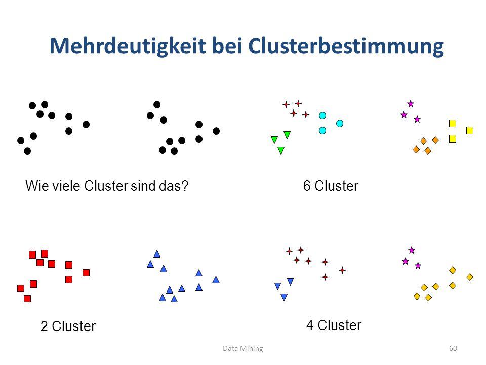 Mehrdeutigkeit bei Clusterbestimmung
