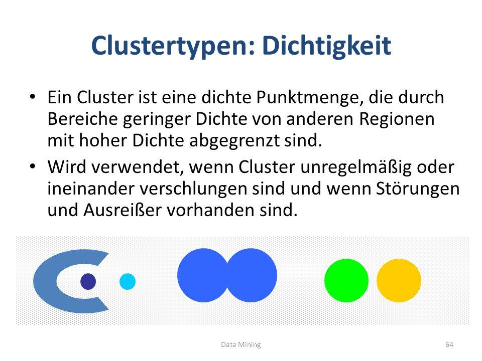 Clustertypen: Dichtigkeit