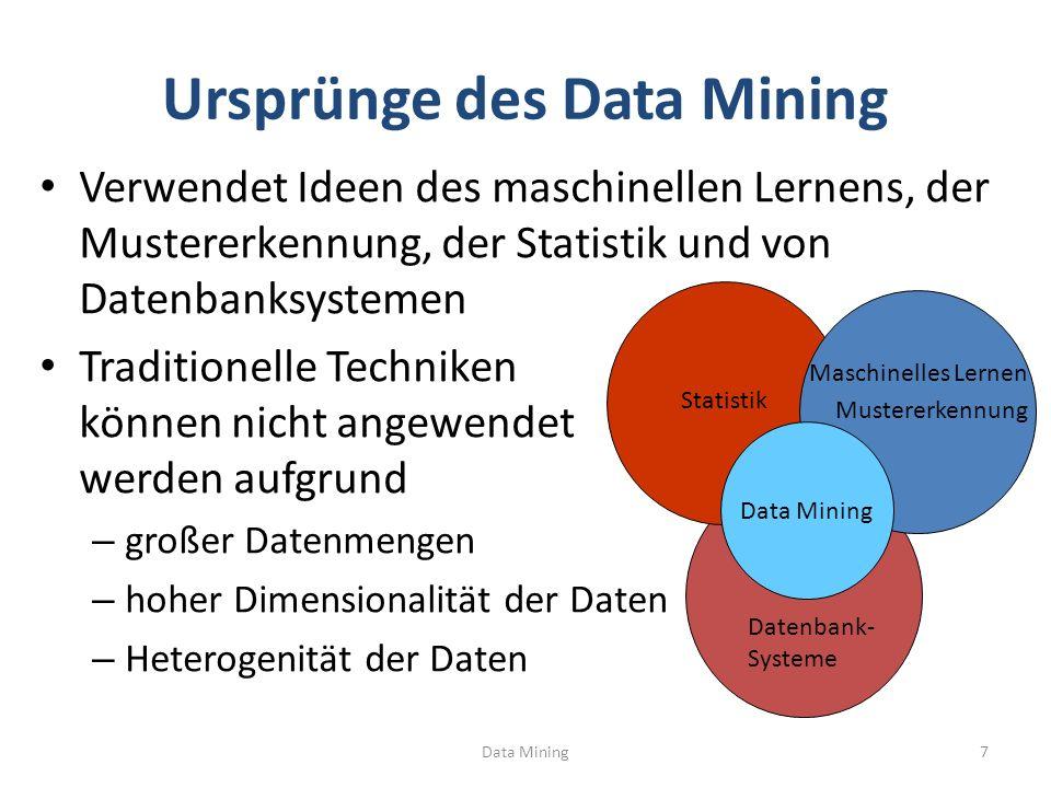 Ursprünge des Data Mining