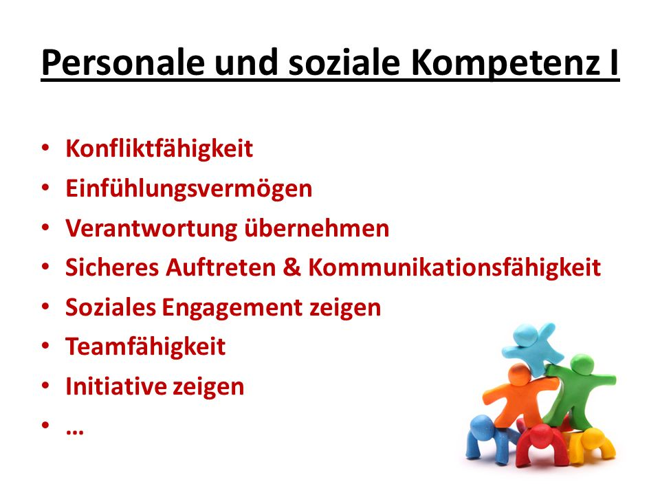 Personale und soziale Kompetenz I