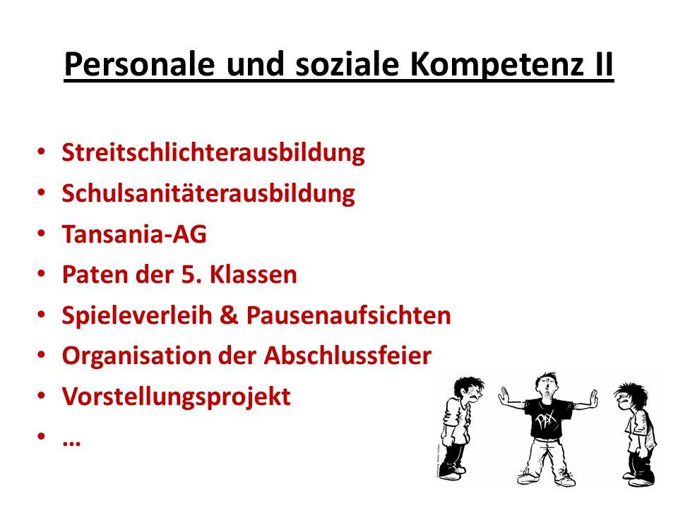 Personale und soziale Kompetenz II