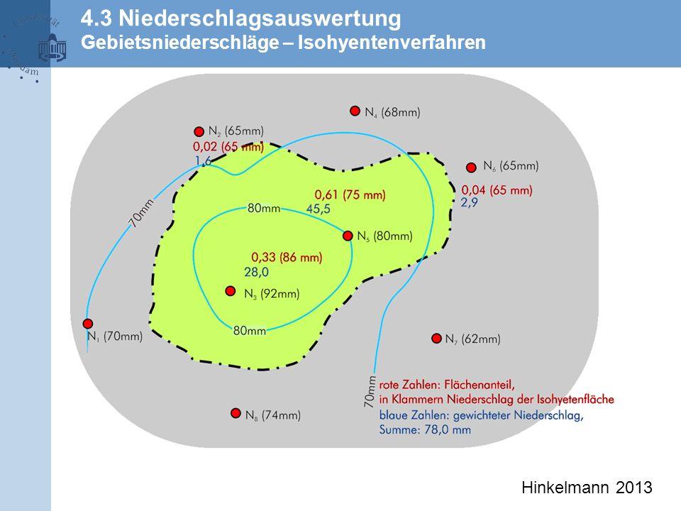 4.3 Niederschlagsauswertung Gebietsniederschläge – Isohyentenverfahren