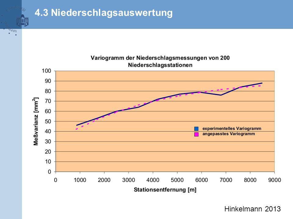 4.3 Niederschlagsauswertung