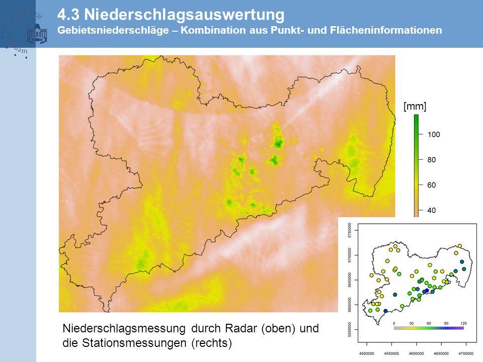 4.3 Niederschlagsauswertung Gebietsniederschläge – Kombination aus Punkt- und Flächeninformationen