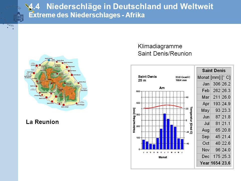 4.4 Niederschläge in Deutschland und Weltweit Extreme des Niederschlages - Afrika