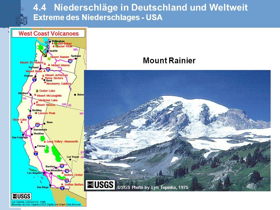 4.4 Niederschläge in Deutschland und Weltweit Extreme des Niederschlages - USA