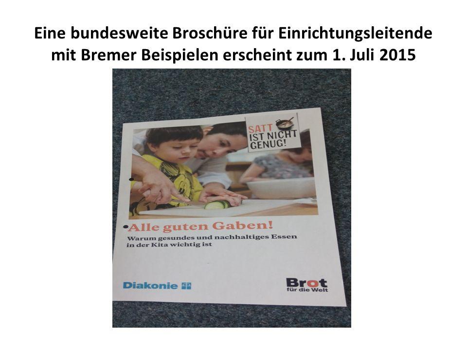 Eine bundesweite Broschüre für Einrichtungsleitende mit Bremer Beispielen erscheint zum 1. Juli 2015