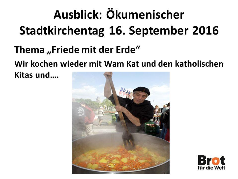 Ausblick: Ökumenischer Stadtkirchentag 16. September 2016