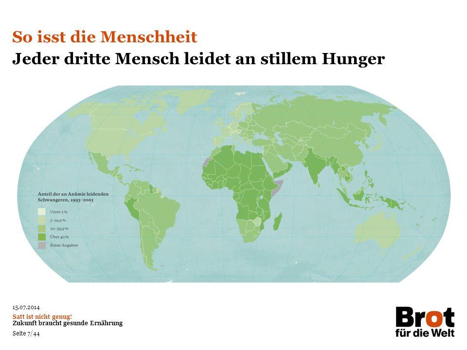 Jeder dritte Mensch leidet an stillem Hunger