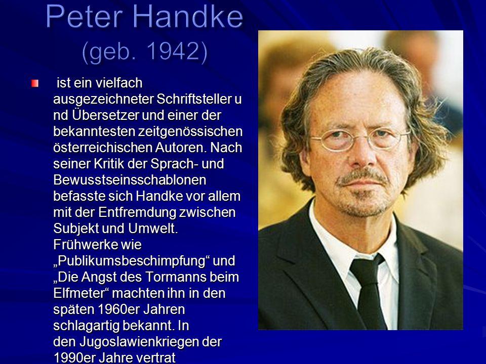 Peter Handke (geb. 1942)