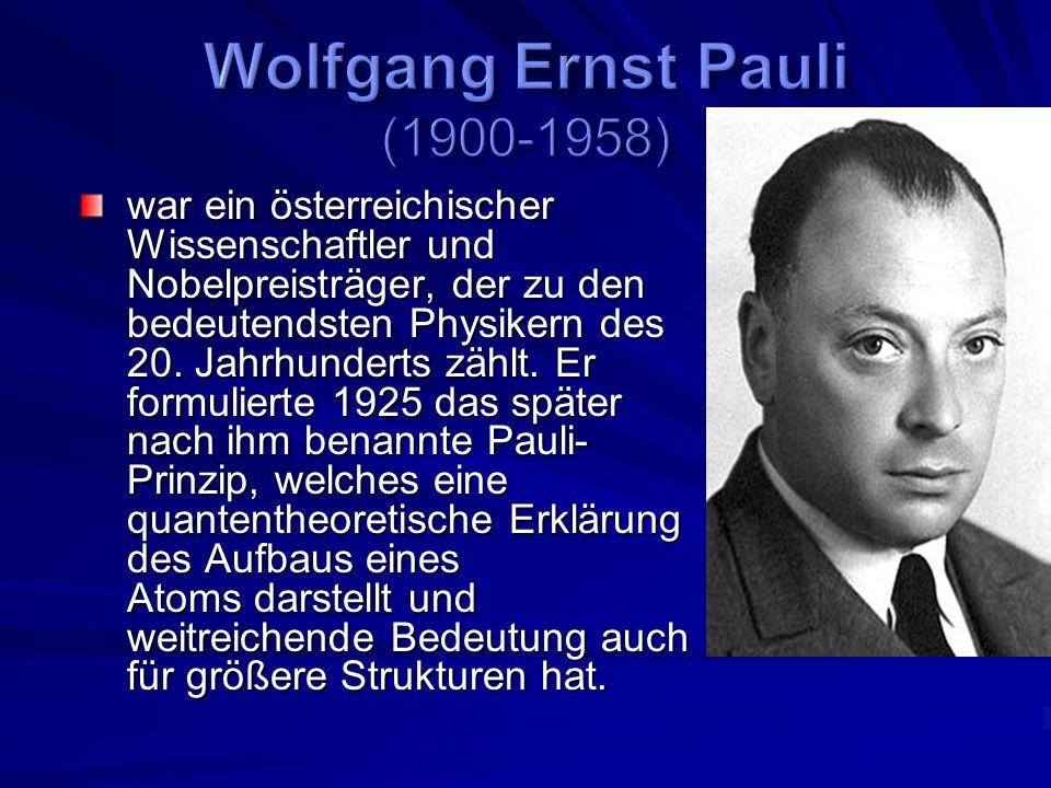 Wolfgang Ernst Pauli (1900-1958)
