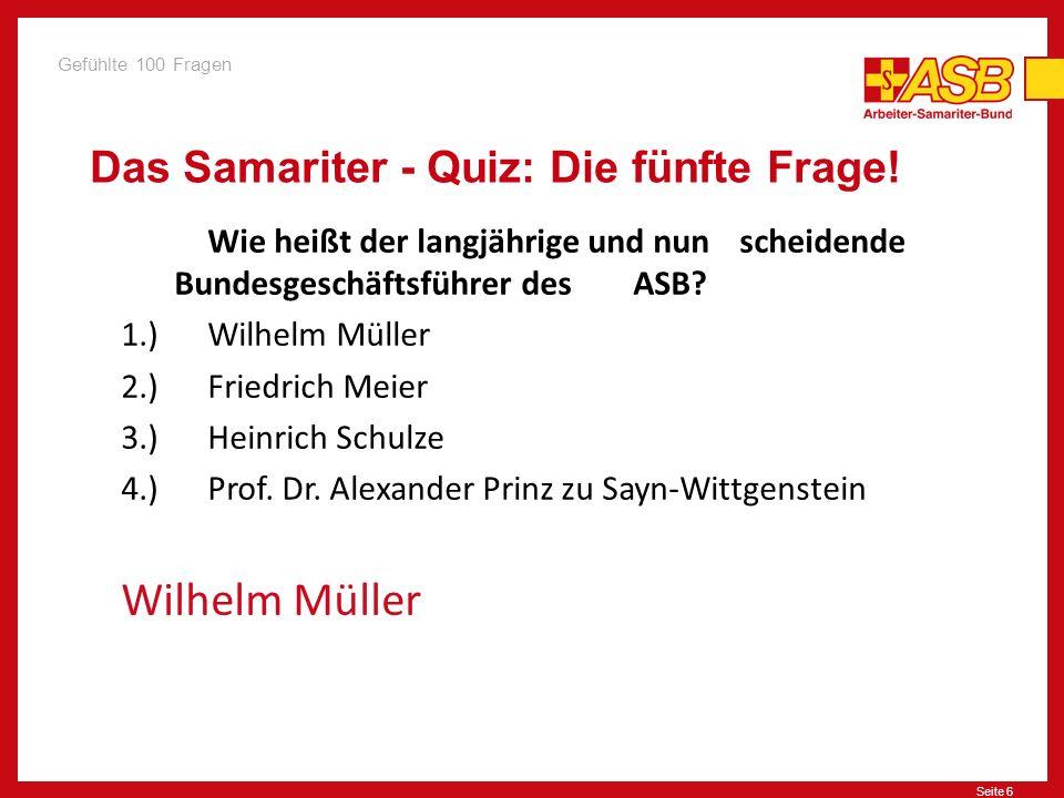 Das Samariter - Quiz: Die fünfte Frage!