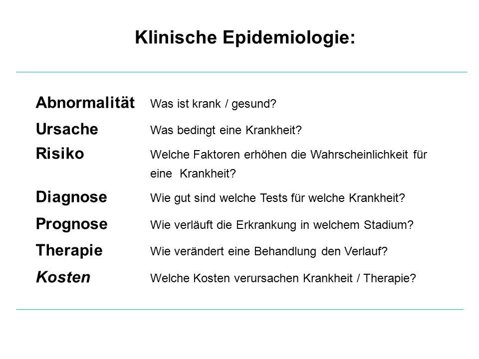 Klinische Epidemiologie: