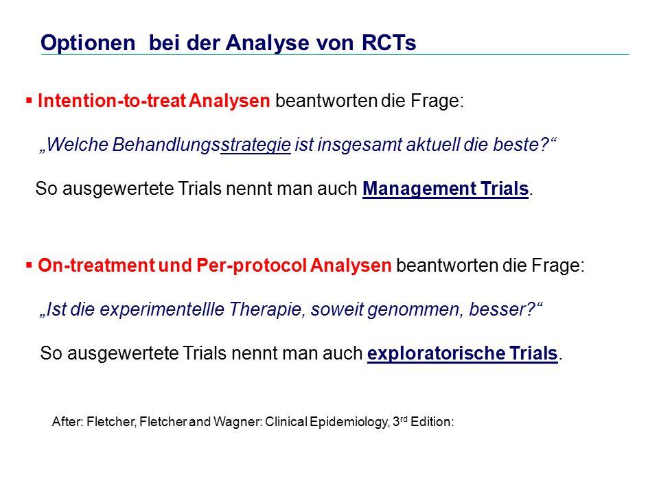 Optionen bei der Analyse von RCTs