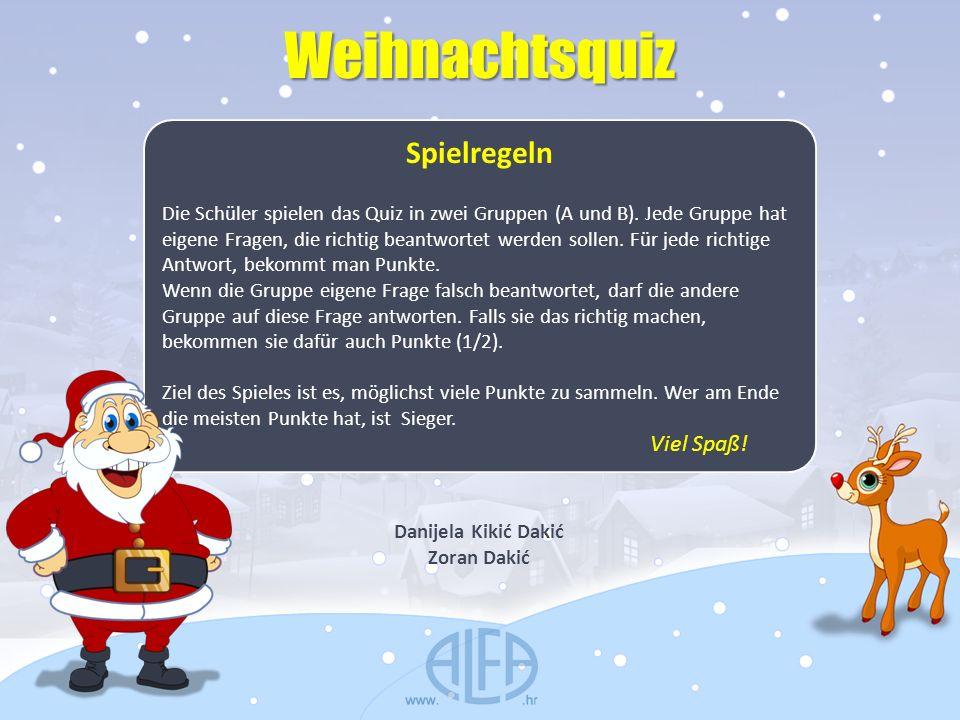 Weihnachtsquiz Spielregeln Viel Spaß!