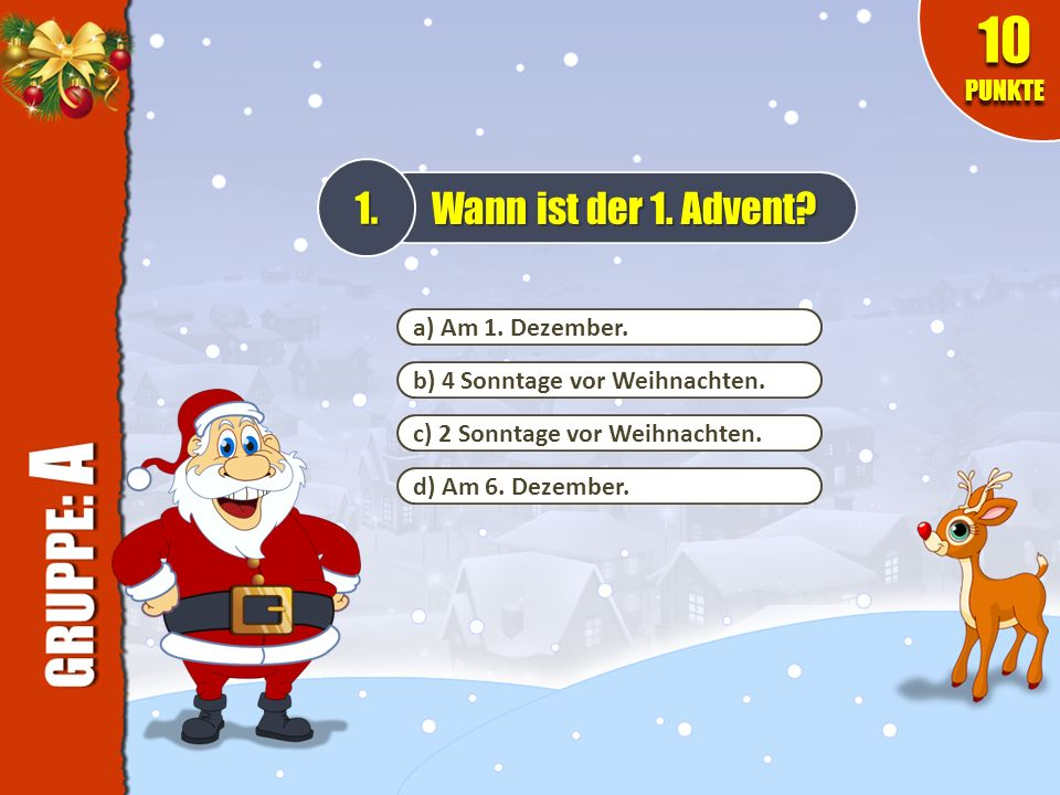 weihnachtsquiz spielregeln viel spa ppt video online herunterladen. Black Bedroom Furniture Sets. Home Design Ideas